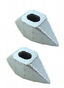 Housings for ILS Oval Chrome Pins (005) (PAIRS)
